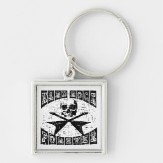 hard rock forever Silver-Colored square keychain
