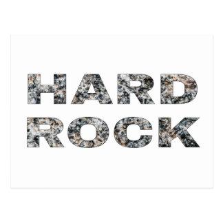 Hard Rock Granite Text Postcard