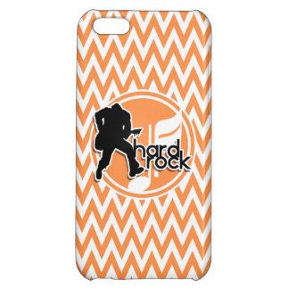 Hard Rock Orange and White Chevron iPhone 5C Cover