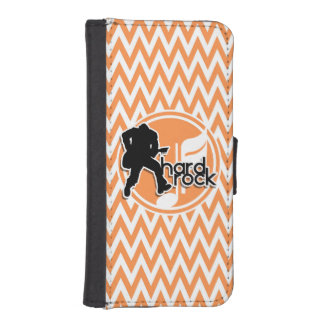 Hard Rock; Orange and White Chevron iPhone 5 Wallets
