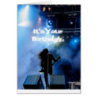 Hard Rockin' Heavy Metal Guitarist Birthday Card