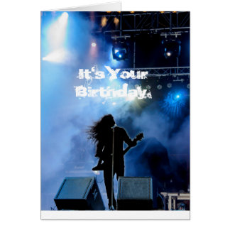 Hard Rockin' Heavy Metal Guitarist Birthday Card