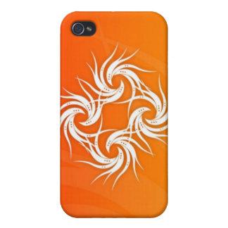 Hard Shell Case for iPhone 4 - Orange Pheonix