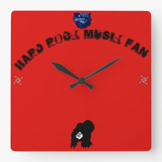 Hard skirt fan article square wall clock