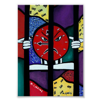 Hard Time Colorful Abstract Artwork Poster