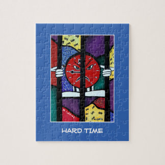 Hard Time On Blue - Time Pieces Jigsaw Puzzle
