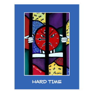Hard Time On Blue - Time Pieces Postcard