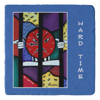 Hard Time On Blue Time Pieces Trivet