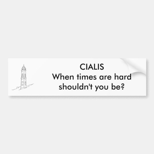 hard times bumper sticker