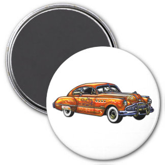 Hard Top Two Door Classic Car 3 Inch Round Magnet