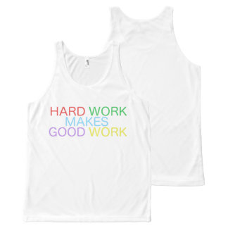 Hard Work Makes Good Work All-Over-Print Tank Top
