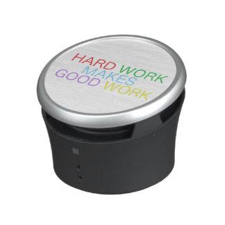 Hard Work Makes Good Work Bluetooth Speaker