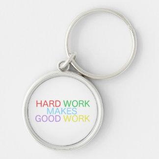Hard Work Makes Good Work Keychain