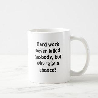 Hard work never killed anybody, but why take a ... coffee mug