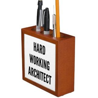 Hard Working Architect Desk Organizer