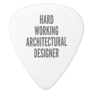 Hard Working Architectural Designer White Delrin Guitar Pick