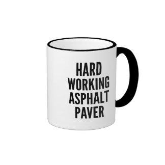Hard Working Asphalt Paver Mugs