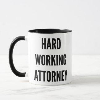 Hard Working Attorney Mug