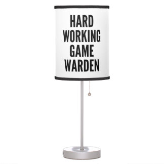 Hard Working Game Warden Table Lamp