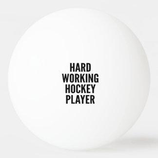 Hard Working Hockey Player Ping Pong Ball