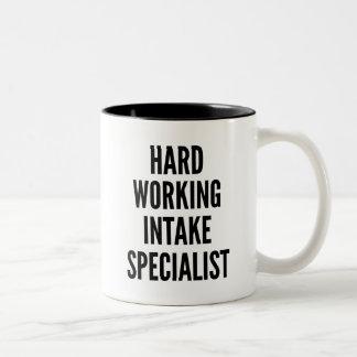 Hard Working Intake Specialist Two-Tone Coffee Mug