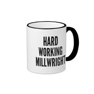 Hard Working Millwright Ringer Mug