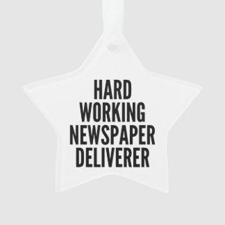 Hard Working Newspaper Deliverer