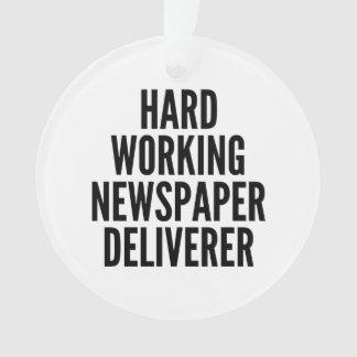 Hard Working Newspaper Deliverer Ornament