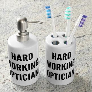 Hard Working Optician Bathroom Set