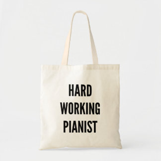Hard Working Pianist Tote Bag