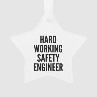 Hard Working Safety Engineer Ornament
