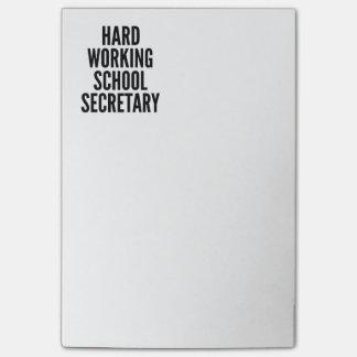 Hard Working School Secretary Post-It Note