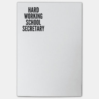 Hard Working School Secretary Post-it Notes