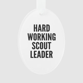 Hard Working Scout Leader Ornament
