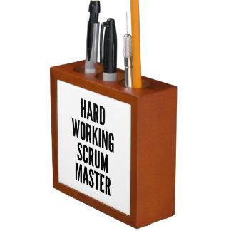 Hard Working Scrum Master Desk Organizer