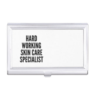 Hard Working Skin Care Specialist Case For Business Cards