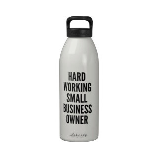Hard Working Small Business Owner Drinking Bottles