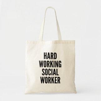 Hard Working Social Worker Tote Bag