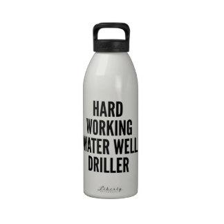 Hard Working Water Well Driller Drinking Bottle
