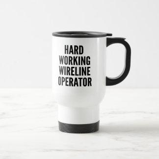 Hard Working Wireline Operator Coffee Mugs