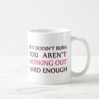 Hard Workout Saying Coffee Mug