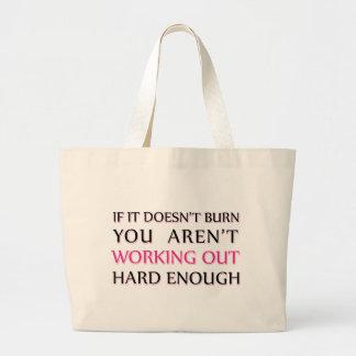 Hard Workout Saying Jumbo Tote Bag