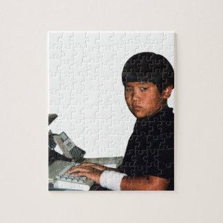Hardcore Coder with Wristband Jigsaw Puzzle