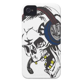 hardcore dee jay skull iPhone 4 case