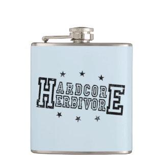 Hardcore Herbivore (blk) Hip Flask
