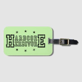 Hardcore Herbivore (blk) Luggage Tag