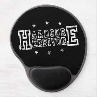Hardcore Herbivore (wht) Gel Mouse Pad