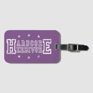 Hardcore Herbivore (wht) Luggage Tag