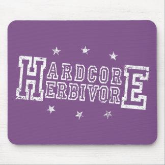 Hardcore Herbivore (wht) Mouse Pad