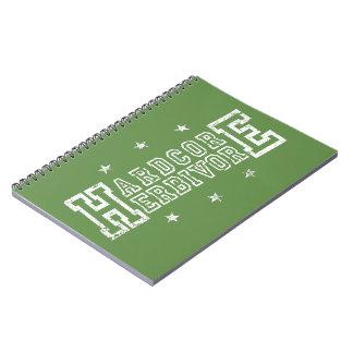 Hardcore Herbivore (wht) Notebook